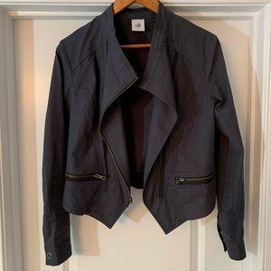 🆕🦋 CAbi Twilight Moto Jacket in Steel